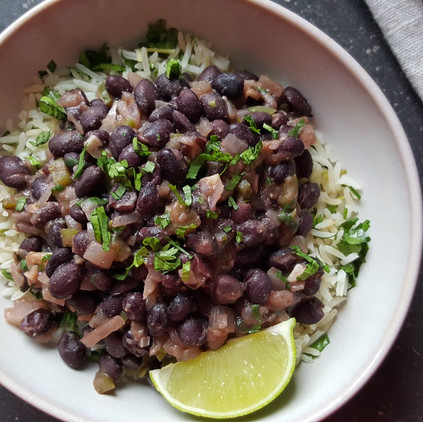 Cuban Black Beans with Cilantro & Lime