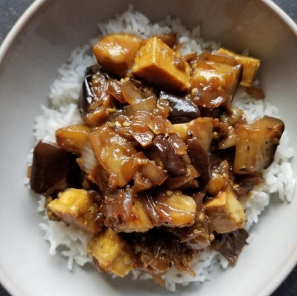 Black Pepper Tofu & Eggplant