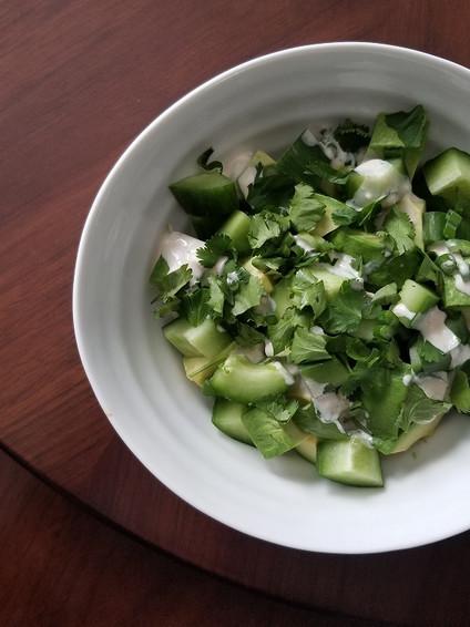 Avocado & Cucumber Salad