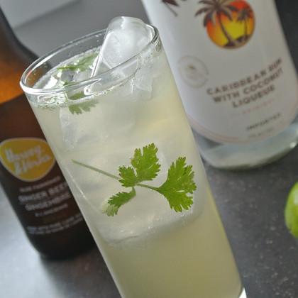 Coconut, Ginger & Cilantro Cocktail