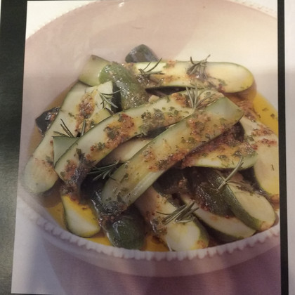 Marinated Courgettes with a Herb Vinaigrette