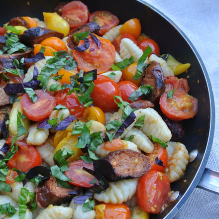 Gnocchi Skillet with Sausage & Tomatoes