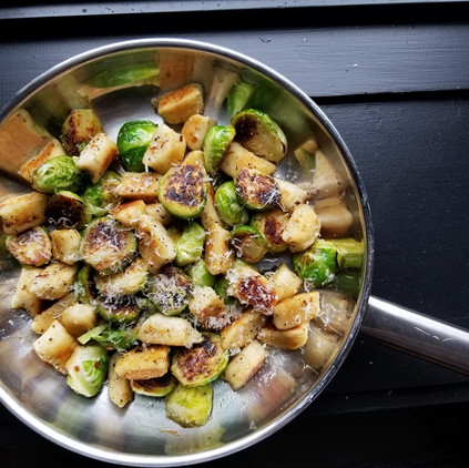 Crisp Gnocchi With Brussels Sprouts and Brown Butter
