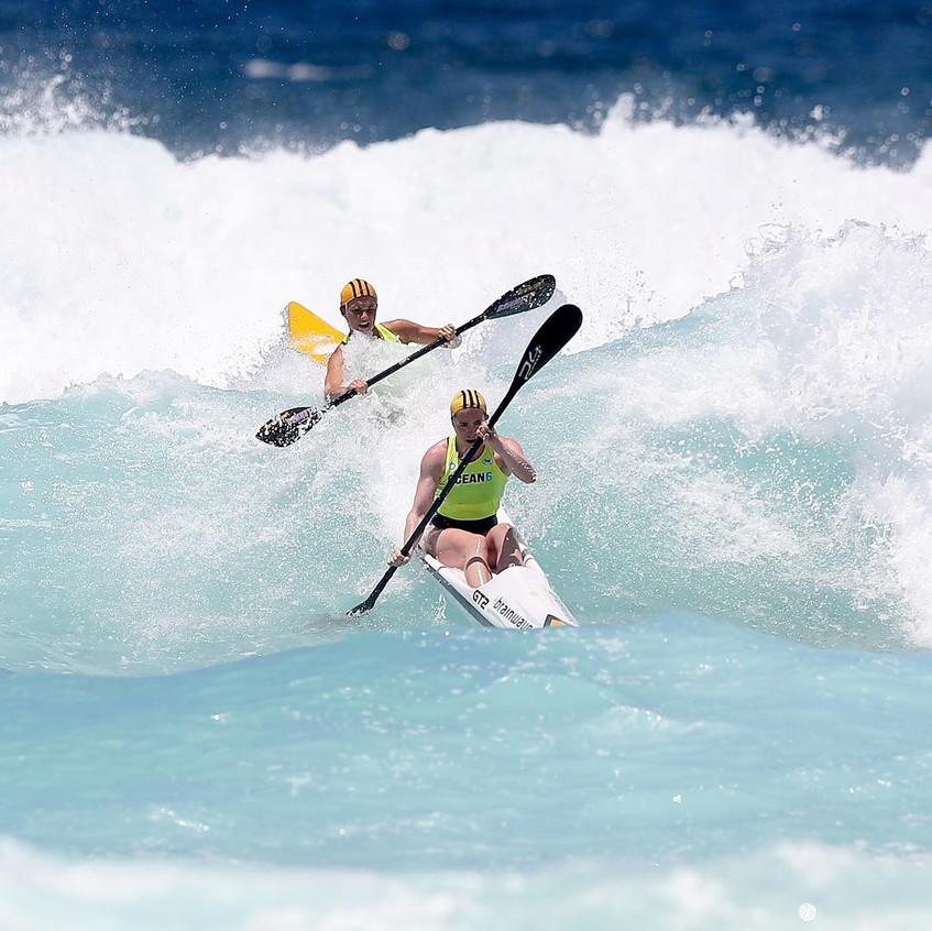 Womens double ski