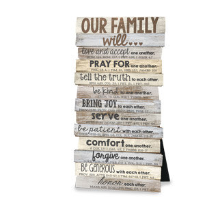 PLAQUE Our Family Stacked 45013