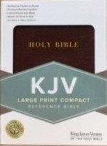 KJV COMPACT LARGE BURGUNDY BONDED 222 8.25 PT REF