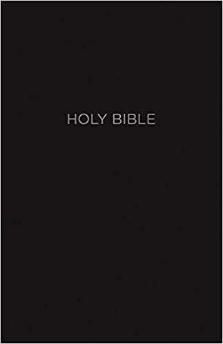 NKJV BIBLE - GIANT CC INDEX REF 701 BLACK LEATHERSOFT