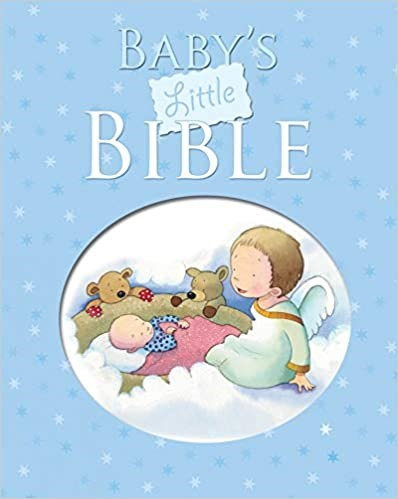 BABYS LITTLE BIBLE BLUE BOY CHILDREN HARDCOVER AGE 1 - 4 160 PG