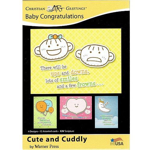 Card Box Baby Congratulations G3156 12 Cards 4 Designs