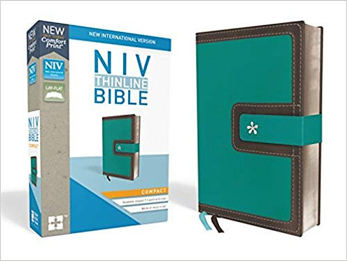 NIV BIBLE - COMPACT THINLINE 280 BLUE LEATHERSOFT