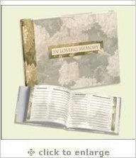 Funeral Memorial Book Green 38084