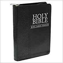 KJV Compact  Black Zip 364 Bible LuxLeather