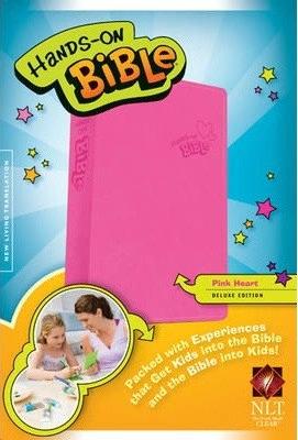 BIBLE CHILDREN NLT 549 HANDS ON Pink Leatherlikr Age 6 -13