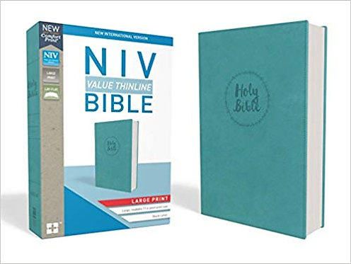 NIV VALUE THINLINE BIBLE - LARGE PRINT TURQUOISE LEATHERSOFT