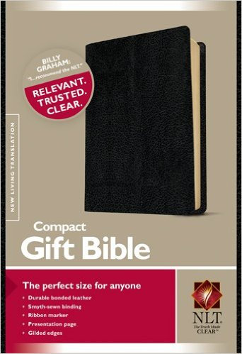 NLT Compact Gift Bible Black 723 Bonded Leather