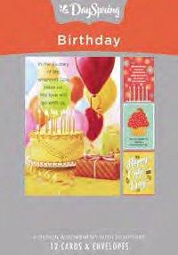 Card Box Birthday Cake 60939 12 C's 4 design