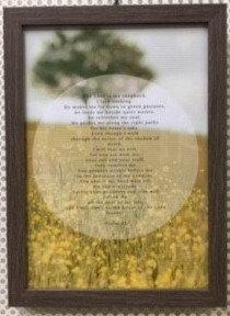 FRAME A4 LORD IS MY SHEPHERD 790 PSALM 23  24 CM X 33 CM