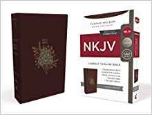 NKJV Thinline 552 Compact Burgundy Imnitation