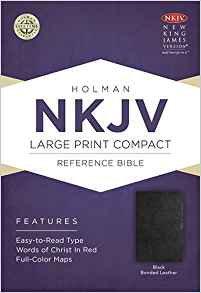 NKJV Compact Large Reference 935 Black Bonded