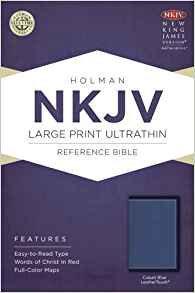 NKJV Ultrathin 584 Large Blue Leathertouch