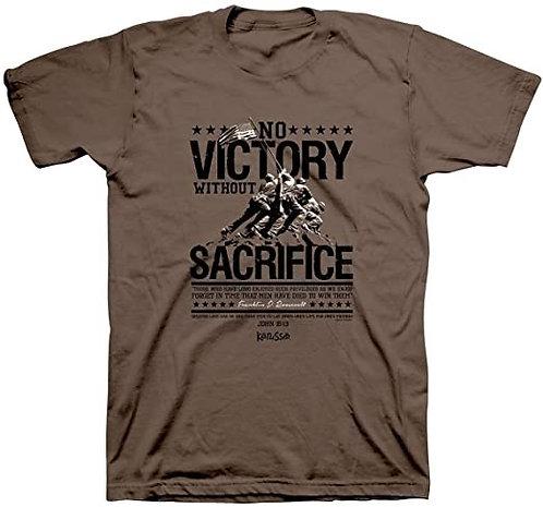 T SHIRT NO VICTORY LARGE BROWN APT3151LG