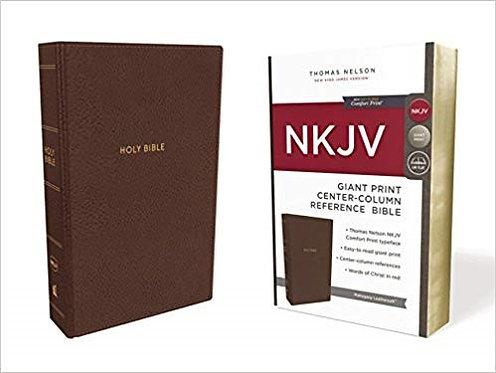 BIBLE NKJV 756 BROWN IMITATION LEATHER Large Font 13.5 PT