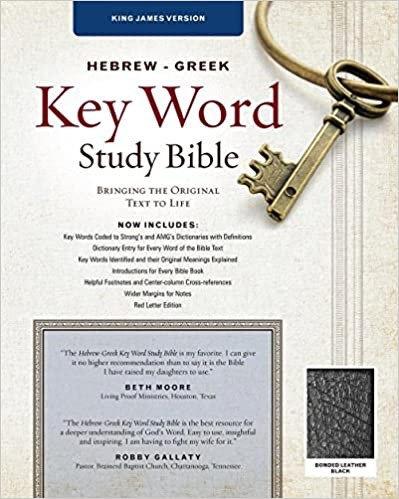 BIBLE KJV HEBREW GREEK KEY WORD 463 BLACK  BONDED CC RL 10.5 PT