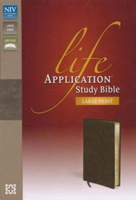 BIBLE NIV LIFE 771 APPLICATION Index Brown Bonded Large 11 PT