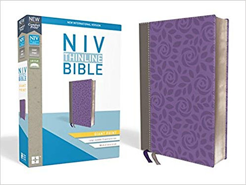 NIV THINLINE GIANT BIBLE 655 PURPLE LEATHERSOFT 13 PT RL