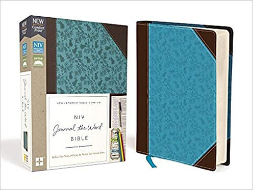 BIBLE NIV JOURNAL THE WORD 283 Brown Blue Leathersoft 9.9 PT