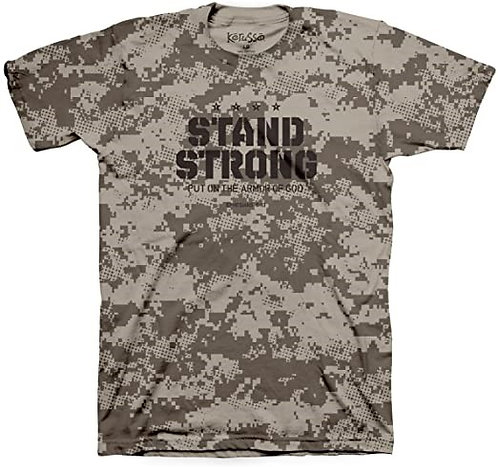 T SHIRT STAND STRONG LARGE  LIGHT BROWN PIXEL PTA2810LG