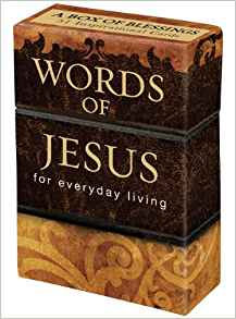 PROMISE BOX WORDS OF JESUS BX064 BROWN 50 CARDS