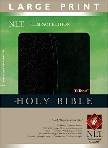 BIBLE NLT COMPACT LARGE BLACK LEATHERLIKE 8.75 PT RL