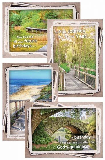 CARD BOX BIRTHDAY FOREST G1116 12 CARDS 4 DESIGNS