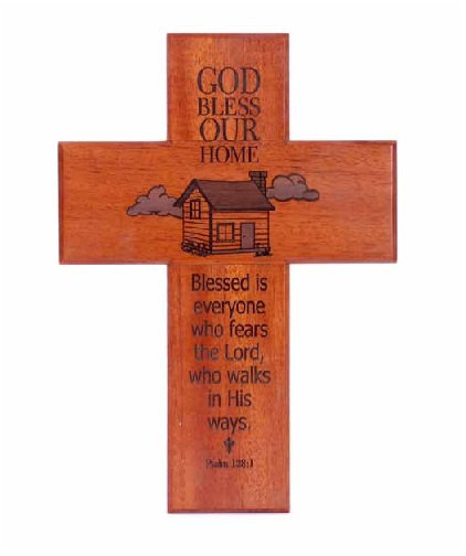 Cross God Bless Our Home Wood CEP1-47