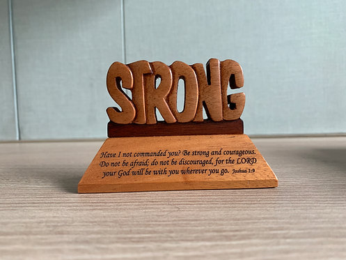 PLAQUE STRONG GW-667 JOSHUA 1 WOOD