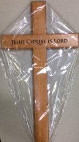 CROSS JESUS CHRIST IS LORD C30-34 12 INCH WOOD