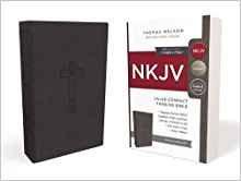 NKJV VALUE THINLINE COMPACT BLACK IMITATION