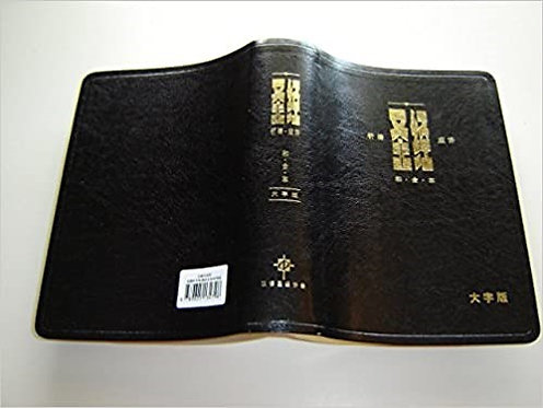BIBLE CHINESE CUV LARGE BLACK IMITATION CAS1479 PRAYER PROMISE