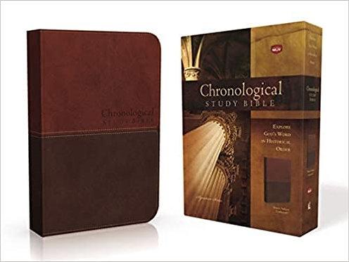 NKJV CHRONOLOGICAL STUDY BROWN LEATHERSOFT 10 PT
