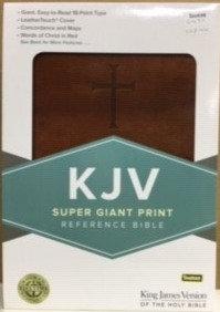 BIBLE KJV SUPER GIANT 307 BROWN LEATHERTOUCH 17.5 PT REF