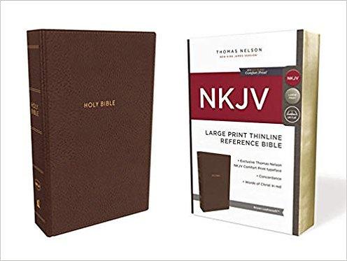 NKJV THINLINE REF LARGE 726 BIBLE BROWN LEATHERSOFT RL 11 PT