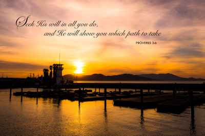 Poster M-9 Dock Proverb 3 : 6 Seek His Will