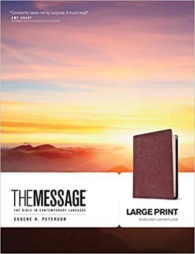 BIBLE MESSAGE LARGE 464 BURGUNDY LEATHER LOOK 12.5 PT