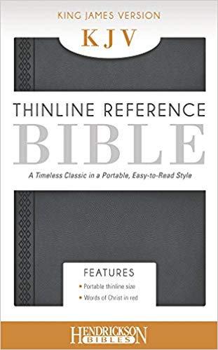 BIBLE KJV THINLINE 214 Gray Imitation 9 PT RL