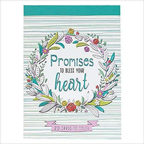 ADULT COLORING CARD PROMISES TO BLESS CLRP04 CARD 4 X 6