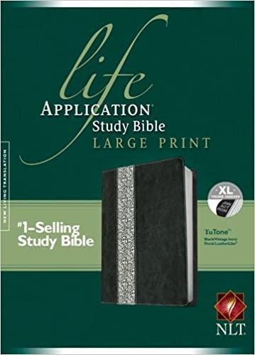 BIBLE NLT LASB LARGE INDEX BLACK LEATHERLIKE 11.5 PT RL