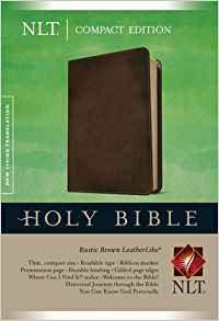 NLT Bible Compact 757 Brown Leatherlike