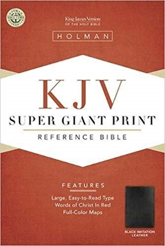 BIBLE KJV SUPER GIANT 346 Black LeatherLook 18 PT