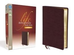 BIBLE NIV LIFE 825 APPLICATION Burgundy Bonded Large Font 11 PT
